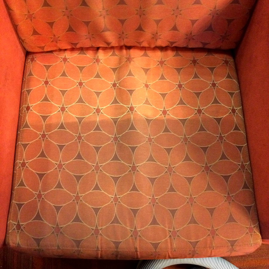 Spot Plus Carpet Care - Furniture cleaning 'before and after' photo