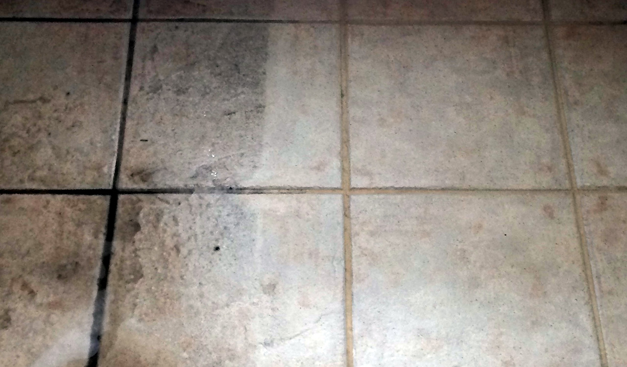 Spot Plus Carpet Care - Tile and grout cleaning 'before and after' photo
